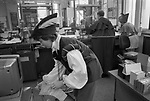The Midland Bank, December 23rd 1994. Southfields Branch, London SW18.  Each year the manager of this branch ( my branch ) threw a Christmas Party for the staff and customers. The Fancy Dress was themed and in 1994 the theme was Robin Hood. She is dressed as Robin Hood.