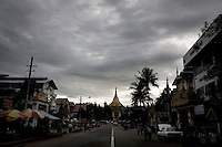 The road leading to the eastern entrance of the Shwedagon Pagoda.