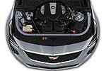 Car Stock 2019 Cadillac CT6 Platinum 4 Door Sedan Engine  high angle detail view