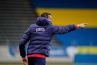 SOLNA, SWEDEN - APRIL 10: Vlatko Andonovski of the United States giving directions during a game between Sweden and USWNT at Friends Arena on April 10, 2021 in Solna, Sweden.