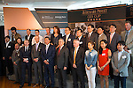 INTERNATIONAL FINANCE CENTER,HONG KONG-APRIL 21: Each horse connections are gathering on the stage at Audemars Piguet QEII Cup Barrier Draw at Sha Tin Racecourse on April 21,2016 in Sha Tin,New Territories,Hong Kong (Photo by Kaz Ishida/Eclipse Sportswire/Getty Images)
