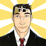 Optimistic businessman with open mind