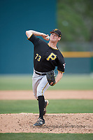 Pittsburgh Pirates pitcher Michael Wallace (73) delivers a pitch during a minor league Extended Spring Training intrasquad game on April 1, 2017 at Pirate City in Bradenton, Florida.  (Mike Janes/Four Seam Images)