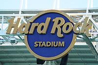 Logo des Hard Rock Stadium - 22.01.2020: SB LIV im Hard Rock Stadium Miami