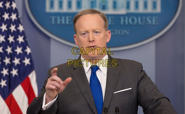 Presidential Press Secretary Sean Spicer holds a news briefing at the White House in Washington DC  March 20, 2017. <br /> CAP/MPI/RS<br /> ©RS/MPI/Capital Pictures