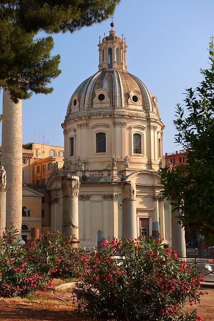 Baroque church nect to Trajan's Market ( Mercati Trajanei) . Rome
