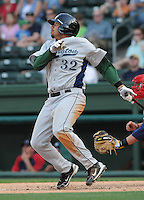 Infielder Kody Hinze (32) of the Lexington Legends, Class A affiliate of the Houston Astros in a game on April 25, 2010, at Fluor Field at the West End in Greenville, S.C. He was named to the 2010 South Atlantic League All-Star team. Photo by: Tom Priddy/Four Seam Images
