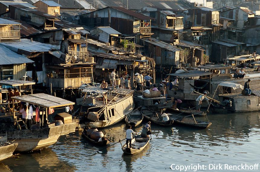 am Ben NGhe-Kanal in Saigon, Vietnam