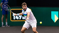Rotterdam, The Netherlands, 2 march  2021, ABNAMRO World Tennis Tournament, Ahoy, First round match: Stan Wawrinka (SUI).<br /> Photo: www.tennisimages.com/henkkoster