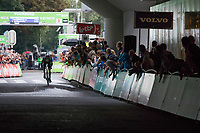 Dutch ITT Champion Tom Dumoulin (NED/Team Sunweb) about to finish his time trial (finishing 3th).<br /> <br /> Binckbank Tour 2017 (UCI World Tour)<br /> Stage 2: ITT Voorburg (NL) 9km