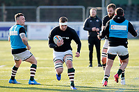 Ryan Smid of Ealing Trailfinders during the Championship Cup Quarter Final match between Ealing Trailfinders and Nottingham Rugby at Castle Bar , West Ealing , England  on 2 February 2019. Photo by Carlton Myrie / PRiME Media Images.