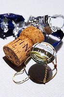 Sparkling wine cava cork. Albet i Noya. Penedes Catalonia Spain