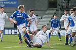 Raith Rovers v St Johnstone....08.03.14    Scottish Cup Quarter Final<br /> Steven Anderson scores the third goal<br /> Picture by Graeme Hart.<br /> Copyright Perthshire Picture Agency<br /> Tel: 01738 623350  Mobile: 07990 594431