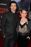 """Adam Driver & Joanne Tucker at the world premiere for """"Star Wars: The Last Jedi"""" at the Shrine Auditorium. Los Angeles, USA 09 December  2017<br /> Picture: Paul Smith/Featureflash/SilverHub 0208 004 5359 sales@silverhubmedia.com"""