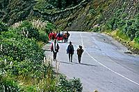 População indígena da Cordilheira dos Andes, Equador. 1997.<br /> Foto de Juca Martins.