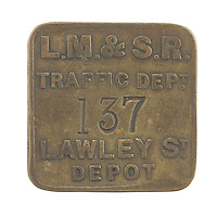 London, Midland, & Scottish Railway token for Lawley Street Depot in Birmingham
