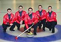 The mens Team GB Winter Olympic Curling Teams 2014.  Left to right : Greg Drummond, Scott Andrews, David Murdoch (skip), Michael Goodfellow, Tom Brewster.