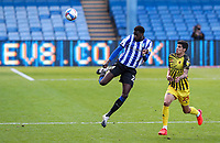 Sheffield Wednesday's Dominic Iorfa beats Watford's Stipe Perica to the ball<br /> <br /> Photographer Alex Dodd/CameraSport<br /> <br /> The EFL Sky Bet Championship - Sheffield Wednesday v Watford - Saturday 19th September 2020 - Hillsborough Stadium - Sheffield <br /> <br /> World Copyright © 2020 CameraSport. All rights reserved. 43 Linden Ave. Countesthorpe. Leicester. England. LE8 5PG - Tel: +44 (0) 116 277 4147 - admin@camerasport.com - www.camerasport.com