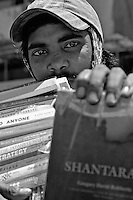 A street vendor selling all sorts of Books, including Google, central Mumbai, India