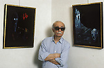 Ernesto Sabato presenting his paintings in Paris.