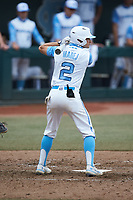 Mikey Madej (2) of the North Carolina Tar Heels at bat against the North Carolina State Wolfpack at Boshamer Stadium on March 27, 2021 in Chapel Hill, North Carolina. (Brian Westerholt/Four Seam Images)