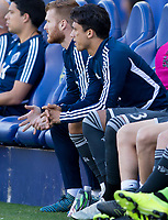 CARSON, CA - SEPTEMBER 29: Fredy Montero #12 of the Vancouver Whitecaps during a game between Vancouver Whitecaps and Los Angeles Galaxy at Dignity Health Sports Park on September 29, 2019 in Carson, California.