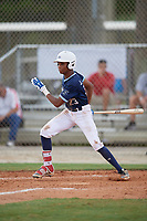 Jordan McCants (23) during the WWBA World Championship at the Roger Dean Complex on October 10, 2019 in Jupiter, Florida.  Jordan McCants attends Catholic High School in Cantonment, FL and is committed to Mississippi State.  (Mike Janes/Four Seam Images)
