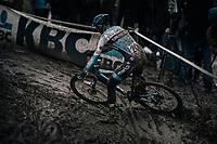 Dieter Vanthourenhout (BEL/Marlux-Napoleon Games) skidding his way through the mud<br /> <br /> Elite Men's Race<br /> CX Vlaamse Druivencross Overijse 2017