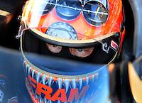 Jan 29, 2008; Chandler, AZ, USA; NHRA top fuel dragster driver Cory McClenathan during testing at the National Time Trials at Firebird International Raceway. Mandatory Credit: Mark J. Rebilas-US PRESSWIRE