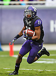 TCU Horned Frogs wide receiver Skye Dawson (11) in action during the game between the Iowa State Cyclones and the TCU Horned Frogs  at the Amon G. Carter Stadium in Fort Worth, Texas. Iowa State defeats TCU 37 to 23.
