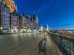 Canada, Quebec, Quebec City, Dufferin Terrace Dawn