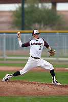 Joe J.C. Dyer (2) of Desert Ridge High School in Mesa, Arizona during the Under Armour All-American Pre-Season Tournament presented by Baseball Factory on January 15, 2017 at Sloan Park in Mesa, Arizona.  (Kevin C. Cox/MJP/Four Seam Images)