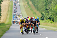 2nd July 2021; Le Creusot, France;  VAN DER POEL Mathieu (NED) of ALPECIN-FENIX and YATES Simon Philip (GBR) of TEAM BIKEEXCHANGE  during stage 7 of the 108th edition of the 2021 Tour de France cycling race, a stage of 249,1 kms between Vierzon and Le Creusot