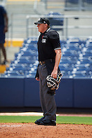 Umpire Grant Hinson during the second game of a doubleheader between the GCL Red Sox and GCL Rays on August 4, 2015 at Charlotte Sports Park in Port Charlotte, Florida.  GCL Red Sox defeated the GCL Rays 2-1.  (Mike Janes/Four Seam Images)