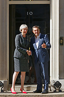 Pictured: Alexis Tsipras meets UK Prime Minister Theresa May at 10 Downing Street in London, UK. Tuesday 26 June 2018<br /> Re: Greek Prime Minister Alexis Tsipras is on a three day visit to London, UK.