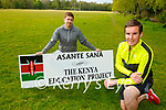 Eamon Sheehy right and John Cronin Killarney who are running a marathon to help raise funds for food parcels for the Kenya Education Project on Saturday 5th June in Killarney National Park