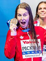 PICKREM Sydney CAN Canada<br /> Gwangju South Korea 26/07/2019<br /> Swimming 100 freestyle women final<br /> 18th FINA World Aquatics Championships<br /> Nambu University Aquatics Center <br /> Photo © Giorgio Scala / Deepbluemedia / Insidefoto
