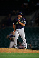 Scranton/Wilkes-Barre RailRiders pitcher Joe Harvey (35) during an International League game against the Rochester Red Wings on June 24, 2019 at Frontier Field in Rochester, New York.  Rochester defeated Scranton 8-6.  (Mike Janes/Four Seam Images)