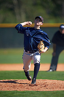 Villanova Wildcats starting pitcher Ryan Doty (37) delivers a pitch during a game against the Dartmouth Big Green on February 27, 2016 at South Charlotte Regional Park in Punta Gorda, Florida.  Villanova defeated Dartmouth 14-1.  (Mike Janes/Four Seam Images)