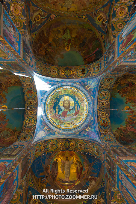 Savior on the Spilled Blood Cathedral Interior, St.-Petersburg