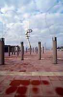 Barcellona, Spagna, Catalogna, stadio olimpico, torre comunicazione,