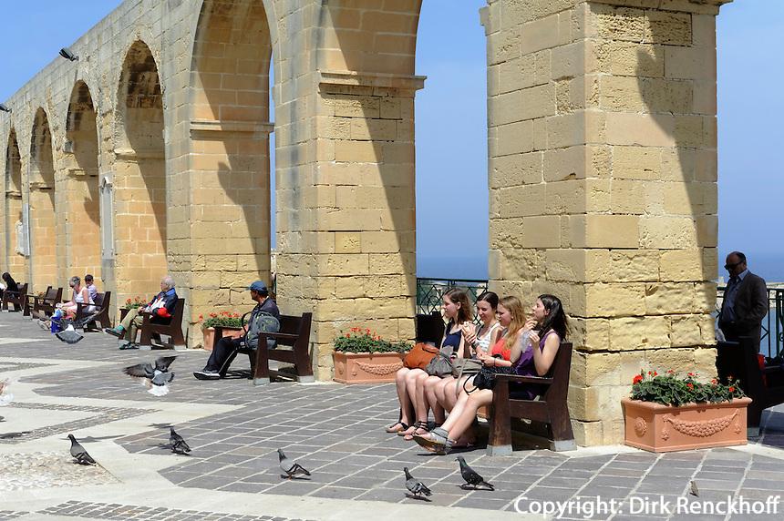 Upper Barracca Garden in Valletta, Malta, Europa, Unesco-Weltkulturerbe