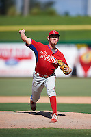 Philadelphia Phillies pitcher Andrew Brown (41) during an Instructional League game against the New York Yankees on September 27, 2016 at Bright House Field in Clearwater, Florida.  (Mike Janes/Four Seam Images)