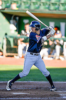 Andy Yerzy (30) of the Missoula Osprey at bat against the Ogden Raptors in Pioneer League action at Lindquist Field on July 13, 2016 in Ogden, Utah. Ogden defeated Missoula 8-2. (Stephen Smith/Four Seam Images)