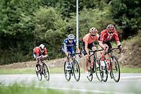 first breakaway attempt of the day<br /> <br /> Stage 16: Pravia to Alto de La Cubilla. Lena (144km)<br /> La Vuelta 2019<br /> <br /> ©kramon