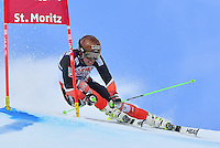 February 17, 2017: Adam BARWOOD (NZL) competing in the men's giant slalom event at the FIS Alpine World Ski Championships at St Moritz, Switzerland. Photo Sydney Low