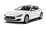 2020 Maserati Ghibil Base 4 Door Sedan angular front stock photos of front three quarter view