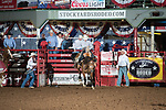 Parker Fleet on Brazos of Stockyards Pro Rodeo Fleet during first round of the Fort Worth Stockyards Pro Rodeo event in Fort Worth, TX - 8.16.2019 Photo by Christopher Thompson