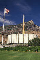 Provo, UT, temple, mormons, Utah, Gold-Spired Provo Mormon Temple in Provo. The Church of Jesus Christ of Latter-day Saints.