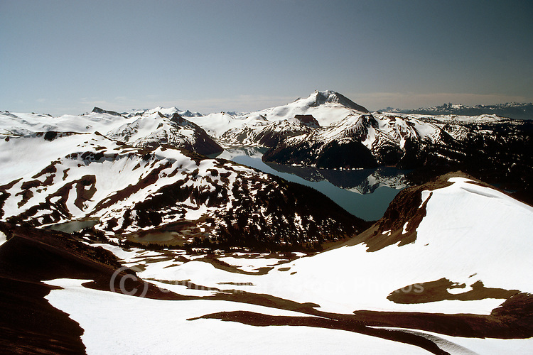 Garibaldi Lake, Garibaldi Provincial Park, near Whistler, BC, British Columbia, Canada - Aerial View of Coast Mountains